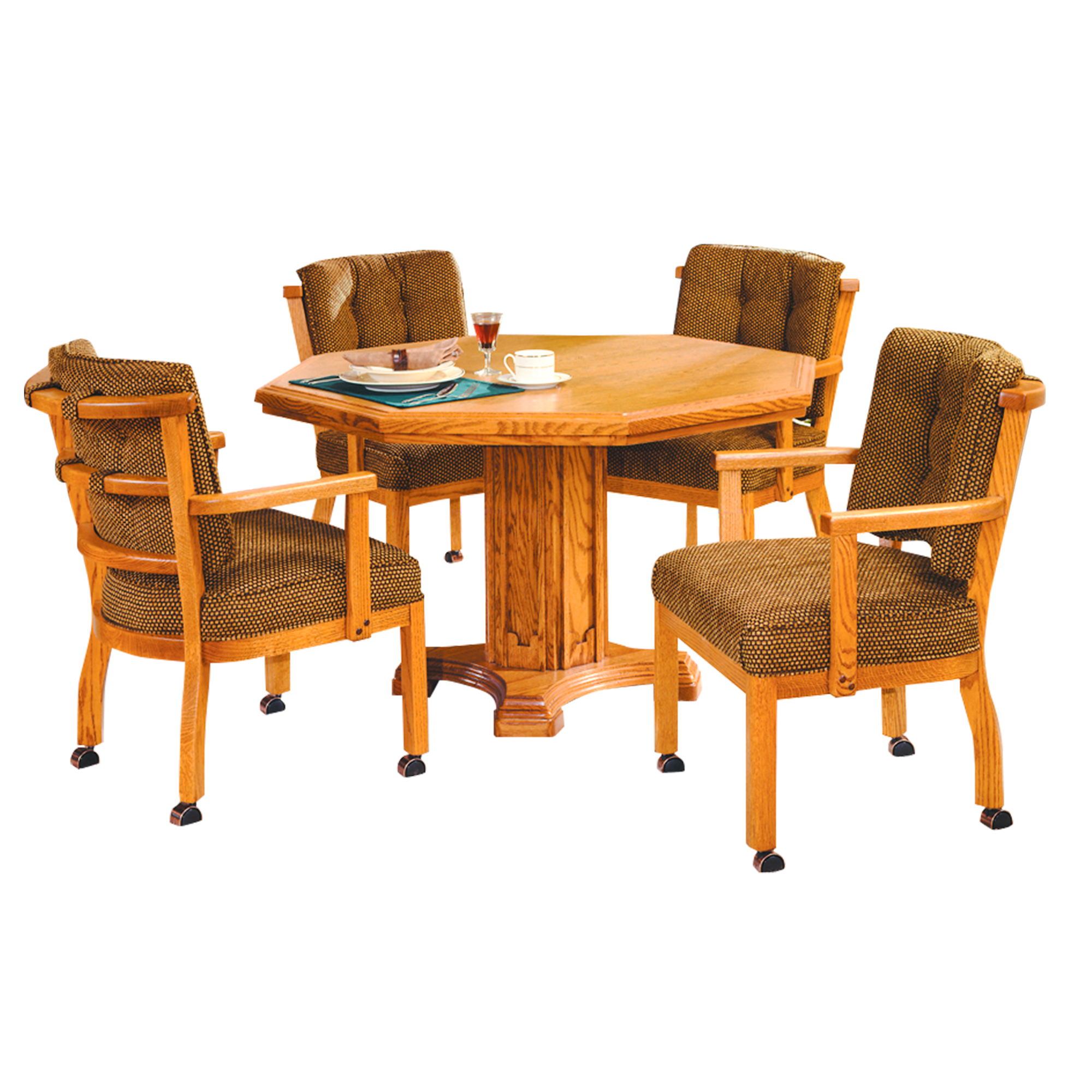 Fabulous T5224 Casual Dining Table C1506 4Lc Caster Chairs Download Free Architecture Designs Rallybritishbridgeorg